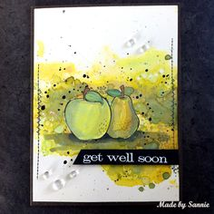 Made by Sannie: Fruity Get Well card with video tutorial - #sssmchallenge - Join in our food and/or drinks theme @Simonsaysstamp Monday Challenge!