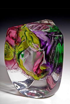 Glass art DIY - Fused Glass art Landscape - Beach Glass art Friends - Broken Glass art Tutorials - Sea Glass art For Kids Broken Glass Art, Sea Glass Art, Glass Vase, Stained Glass Church, Stained Glass Art, Glass Ceramic, Mosaic Glass, Vases, Cristal Art