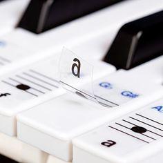 Keysies Transparent Plastic Removable Piano and Keyboard Note Stickers - Plus Handy Placement Guide. Keysies http://www.amazon.com/dp/B00TXC247S/ref=cm_sw_r_pi_dp_o.Vywb0YW8V7Q