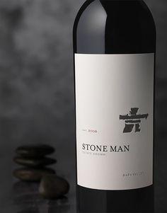 Stone Man Charles Krug Wine Label & Package Design