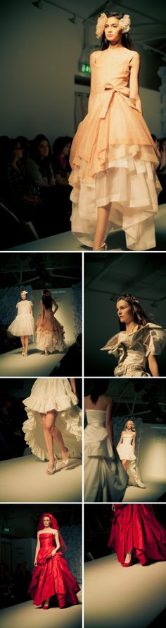 Vivienne Westwood Peach Shimmer Tulle over silk Organza Layers - LOVE!