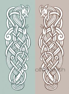 celtic zoomorphic coloured designs - Google Search #dragon #dragon #celta
