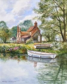Ferrymans Cottage - Watercolour 13 x 16 inches