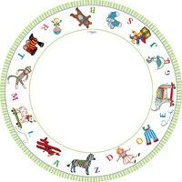 Alphabet Baby Shower Party 8 inch Plates