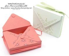 Stampin' Up! Demonstrator Pootles - Around The Corner Envelope Punch Board Box Envelope Maker, Diy Envelope, Envelope Templates, Envelope Tutorial, Box Templates, Envelope Punch Board Projects, Gift Card Boxes, Card Envelopes, Making Envelopes