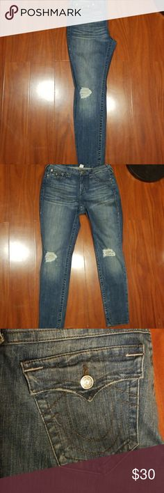 True religion denim ripped/distressed jeans Used, In Great condition. True Religion Jeans Skinny