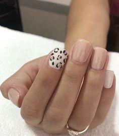 Animal Print Leopard Nail Art Idea