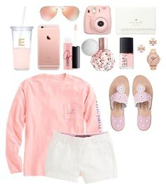 """too pink"" by hanah2053 ❤ liked on Polyvore featuring Kate Spade, Ray-Ban, MAC Cosmetics, Tory Burch, NARS Cosmetics, Nixon, Vineyard Vines and Jack Rogers"
