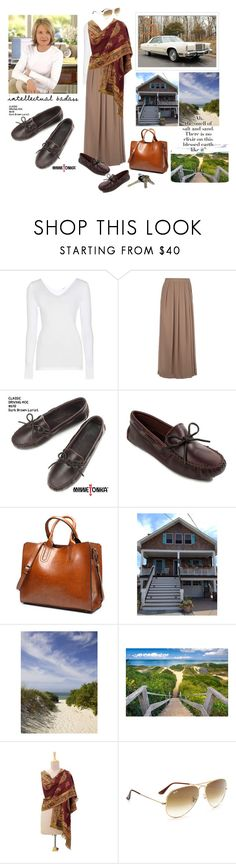 """""""Driving w/ Diane to Her Beachside Writer's Retreat❤️👩🏼🎭🎬📝👜👣🛣🏖❤️"""" by chrisiggy ❤ liked on Polyvore featuring Wolford, So Nice, Minnetonka, Avon, NOVICA and Ray-Ban"""