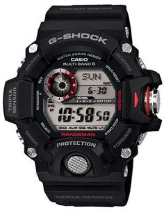Casio Mens G-Shock Radio Controlled Solar Black Resin Strap Watch. G-Shock Collection. Casio G-shock, Casio Watch, Casio G Shock Watches, Sport Watches, Cool Watches, Watches For Men, Men's Watches, Black Watches, Unique Watches