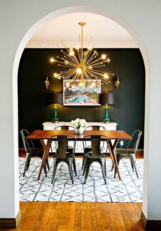 cool Salle à manger - Copy Cat Chic Room Redo | Moody & Modern Dining Room (| Copy Cat Chic | chic for cheap)