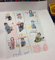This is what one of my creative kiddos did with our cute community helper finger puppets. You can get these 9 puppets along with our Mp3 lively song, books, activities, matching game, charades game and print and go sheets. Check out some of the fun activities on our blog.