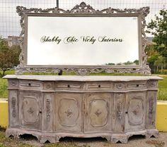 Restyling Grande Servante e Specchio  Shabby Chic Vicky Interiors