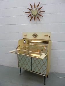 vintage cabinet homebar   RARE-Retro-Vintage-50s-60s-Cocktail-Drinks-Cabinet-Home-Bar-ATOMIC ...