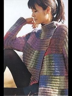 Even simple patterns look great in Noro. Love Noro yarn.