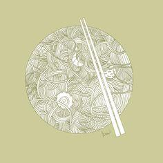 noodles illustration - Google Search