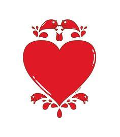 "Ilustración ""Corazón explosivo"" para RiffofGloria."