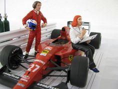 1989 Ferrari #F1 pit scene diorama w/Nigel Mansell car 2013 GTR Summer NNL