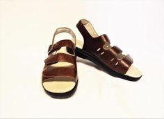 9d4f640bee9 NEW Propet Breeze 7.5 38 M Walker Sandals Brown Leather Adjustable Straps  Flat