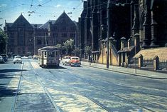 img/gallery/NSW/Sydney as it College Street, with St Marks Cathedral on the right. Metro Rail, Harbor Bridge, Sydney City, Historical Images, Sydney Australia, Old Pictures, Cathedral, Nostalgia, Memories