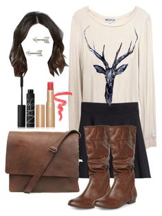 Allison Argent Inspired Outfit by lili-c on Polyvore featuring Wildfox, H&M, Dorothy Perkins, Tomas, Too Faced Cosmetics and NARS Cosmetics