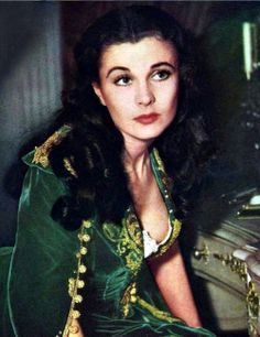 Vivien Leigh on the set of The Gone With the Wind