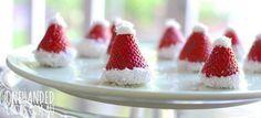 Christmas Santa Strawberry Hats