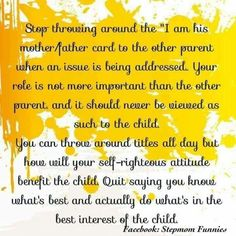 The court orders say Joint Custody and Shared Parental Responsibilities! Stop being vindictive and breaking the law. Stop Parental Alienation! Baby Mama Drama, Baby Momma, Step Parenting, Parenting Quotes, Parenting Hacks, Parenting Plan, Parenting Toddlers, Joint Custody, Child Custody