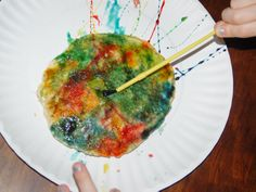 For pancake day.Painting Pancakes: Modern Art You Can Eat Preschool Art Projects, Preschool Crafts, Toddler Activities, Fun Crafts, Activities For Kids, Letter Activities, Preschool Ideas, Book Crafts, Preschool Snacks