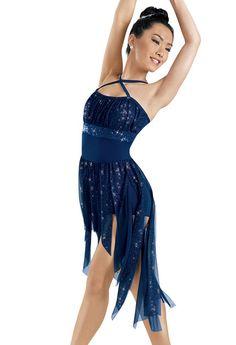 Glitter Mesh High-Low Dress -Weissman Costumes