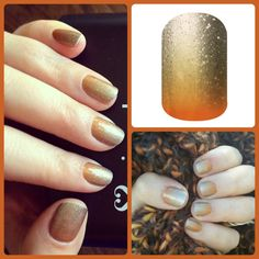 Jamberry Nail Wraps - Pumpkin Spice.  Because even your nails are excited about fall! http://sarahterrell.jamberrynails.net
