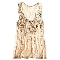 Sequin Jersey Tank ($49) ❤ liked on Polyvore featuring tops, shirts, tank tops, tanks, women, sequin chiffon top, chiffon tank, sequin tank top, chiffon shirt and jersey tank top