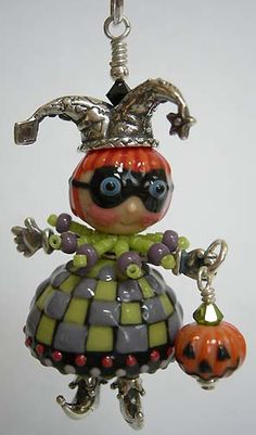 Halloween Boo, Holidays Halloween, Halloween Jewelry, Jewelry Boards, Wire Crafts, Beads And Wire, Marbles, Lampwork Beads, Artisan Jewelry