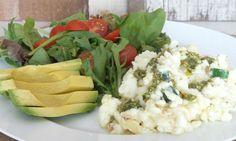 Egg White Pesto Scramble Recipe: Easy, healthy and delicious!