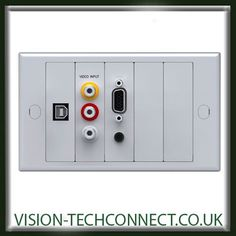 Vision LT Modular Wall Plate for AV (Audiovisual) connectivity including VGA, USB, Video snap-in AV Modules Front Plate and back box 1643286 Projector Wall, Audio Visual Installation, Modular Walls, Display Screen, Plates On Wall, Home Decor, Decoration Home, Room Decor, Home Interior Design