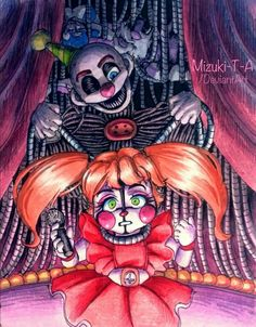 Today I heard 'Suicide Didn't Work' by Rissy. And I drew this inspired by it. Good music help to make something. It excites and motivates. Your show is over / Baby, Ennard FNaF Five Nights At Freddy's, Fnaf Cosplay, My Little Pony, Fnaf Sl, Ballora Fnaf, Fnaf Baby, Fnaf Wallpapers, Fnaf Sister Location, Circus Baby