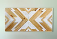 Reclaimed Wood Wall Art  Geometric Wood Wall Art by EthosWoodworks