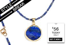 STYLE BREAK! Get the Julisa Necklace for $56. Today Only!!   www.lasugjewelry.kitsylane.com