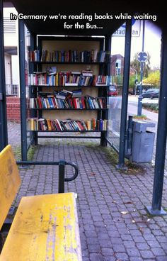 It's what we call a public library - you take a book and leave one in return