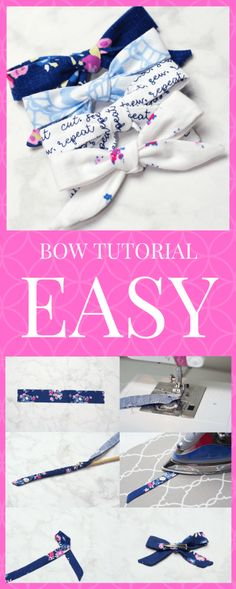 Easy DIY Girl's Headband and Bow Fabric Sewing Tutorial Sweet Red Poppy