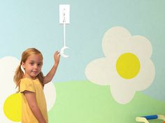 KidSwitch Light Switch Extender is perfect for children's bedrooms, plus the bathroom, of course.