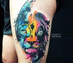 Lion tattoo by Pablo Ortiz Tattoo