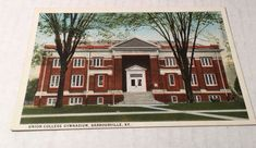 Barbourville Kentucky KY Union College Gymnasium Gym Antique Postcard Unposted