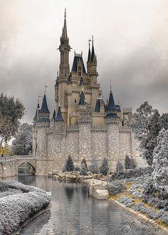 Winter Castle Cinderella Castle, Orlando, Florida