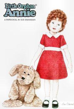 Magazine Paper Dolls - Little Orphan Annie Dolls Film, Art Dolls, Paper Toys, Paper Crafts, Annie Musical, Paper People, Cartoon Tv Shows, Vintage Paper Dolls, My Childhood Memories