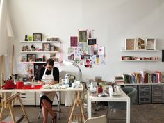 Visiting Lisa Congdon's Studio