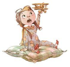 🌿Illustration by Valerio Fabbretti 🌿 ********************* Illustration Mignonne, Children's Book Illustration, Character Illustration, Art Illustrations, Kid Character, Character Concept, Character Reference, Pose Reference, Cartoon Drawings
