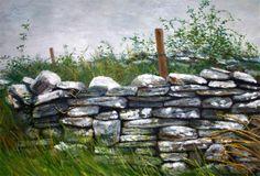 Stone Wall Painting  - Stone Wall Fine Art Print
