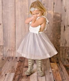 Sweat and Ohh So Cute! Shop Our Looks! Grey Scarlett's Ruffle Girl and Toddler Dress #marilijean #musthave #easterdress
