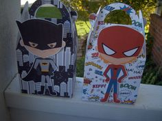 Jumbo Superhero Gable Boxes Set of 10 by zbrown5 on Etsy, $16.00